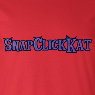 """Snap Click Kat"" Ears Logo Graphic - SCK! (on Red Tee)"