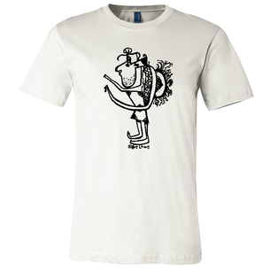 """Hunchback"" by Art Lewis (on Natural Tee)"