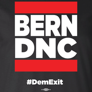 """Bern DNC"" by David Peirce - Repent Agenda (on Black Tee)"