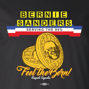 """Serving the 99%"" by David Peirce - Repent Agenda (on Black Tee)"