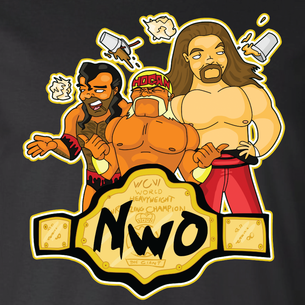 """nWo"" Graphic by Seth Melton (On Black Tee)"