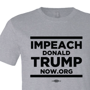 Impeach Trump Stacked Logo Graphic (on Athletic Heather Tee)