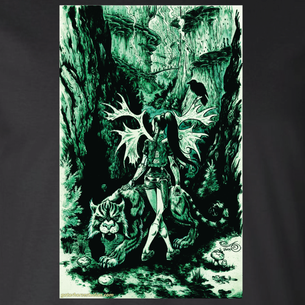 """Spirit of the Forest City"" Graphic by Adam Kobetich (On Black Tee)"