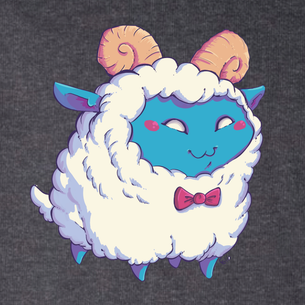 """Dapper Sheep"" -- By Carissa Cornelius (on Dark Heather Gray Tee)"