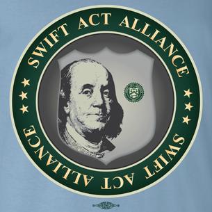SWIFT Act Alliance Logo (On Steel Blue Tee)