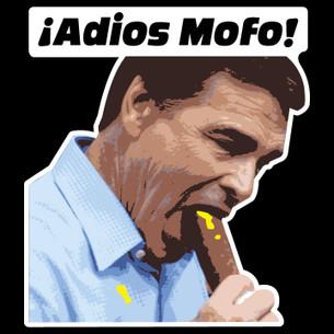 """¡Adios Mofo!"" Governor Corndog Tee (Black Tee Version)"