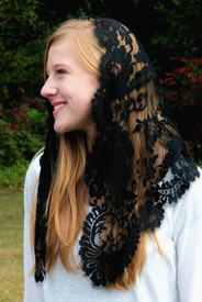 Black French Garden Mantilla