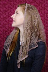 Starter Mantilla Veil in Mocha
