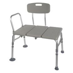 Plastic Transfer Bench with Adjustable Backrest - 12011kd-1