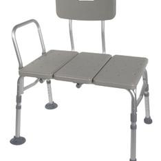 Plastic Transfer Bench with Adjustable Backrest - rtl12011kdr