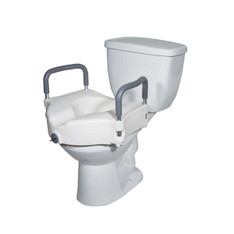 Elevated Raised Toilet Seat with Removable Padded Arms - rtl12027ra