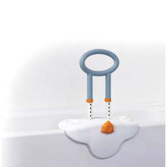 Michael Graves Clamp On Height Adjustable Tub Rail with Soft Cover Soap and Shampoo Dish - mg12050sc