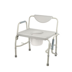Bariatric Drop Arm Bedside Commode Chair - 11135-1