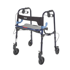 "Clever Lite Flame Blue Junior Rollator Walker with 5"" Casters - 10230j"