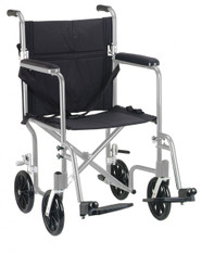 "19"" Flyweight Lightweight Silver Transport Wheelchair - fw19sl"