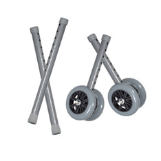 "Heavy Duty Bariatric 5"" Walker Wheels with Extension Legs - 10118csv"