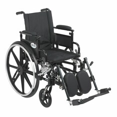 Viper Plus GT Wheelchair with Flip Back Removable Adjustable Desk Arm and Elevating Leg Rest - pla416fbdaarad-elr