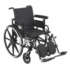 Viper Plus GT Wheelchair with Flip Back Removable Adjustable Full Arm and Elevating Leg Rest - pla418fbfaarad-elr