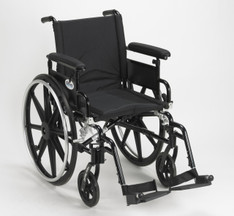 Viper Plus GT Wheelchair with Flip Back Removable Adjustable Full Arm and Swing Away Footrest - pla418fbfaarad-sf