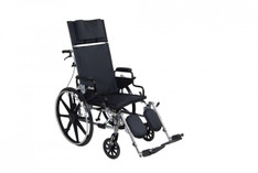 "Viper Plus GT 18"" Reclining Wheelchair with Desk Arms - pla418rbdda"