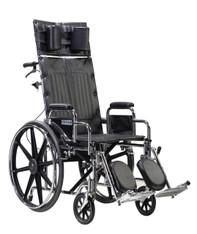 Sentra Reclining Wheelchair with Detachable Desk Arms - std16rbdda