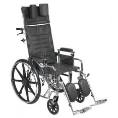 Sentra Reclining Wheelchair with Detachable Adjustable Desk Arms - std18rbadda