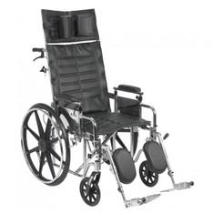Sentra Reclining Wheelchair with Detachable Adjustable Desk Arms - std20rbadda