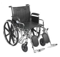 Sentra EC Heavy Duty Wheelchair with Detachable Desk Arms and Elevating Leg Rest - std20ecddahd-elr