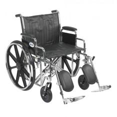 Sentra EC Heavy Duty Wheelchair with Detachable Desk Arms and Elevating Leg Rest - std22ecdda-elr