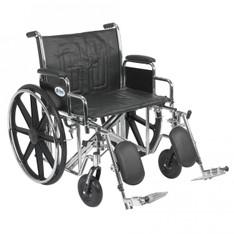 Sentra EC Heavy Duty Wheelchair with Detachable Desk Arms and Elevating Leg Rest - std24ecdda-elr