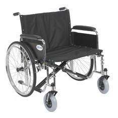 Sentra EC Heavy Duty Extra Wide Wheelchair with Detachable Full Arms - std26ecdfa