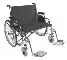 Sentra EC Heavy Duty Extra Wide Wheelchair with Detachable Desk Arms - std28ecdda