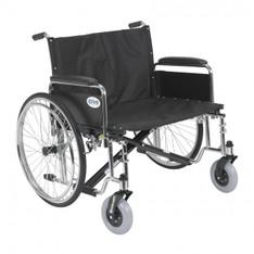 Sentra EC Heavy Duty Extra Wide Wheelchair with Detachable Full Arms - std28ecdfa