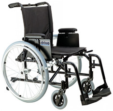 Cougar Ultra Lightweight Rehab Wheelchair with Detachable Adjustable Desk Arms and Swing Away Footrest - ak518ada-asf