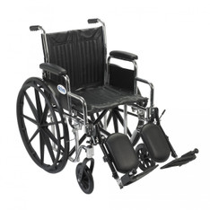 Chrome Sport Wheelchair with Detachable Desk Arms and Elevating Leg Rest - cs18dda-elr