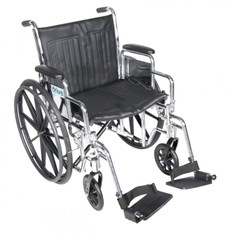 Chrome Sport Wheelchair with Detachable Desk Arms and Swing Away Footrest - cs20dda-sf