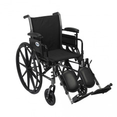 Cruiser III Light Weight Wheelchair with Flip Back Removable Adjustable Desk Arms and Elevating Leg Rest - k318adda-elr