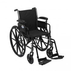 Cruiser III Light Weight Wheelchair with Flip Back Removable Adjustable Desk Arms and Swing Away Footrest - k318adda-sf