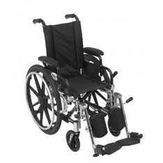Viper Wheelchair with Flip Back Removable Desk Arms and Elevating Leg Rest - l412dda-elr