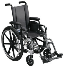 Viper Wheelchair with Flip Back Removable Desk Arms and Swing Away Footrest - l412dda-sf