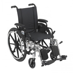 Viper Wheelchair with Flip Back Removable Desk Arms and Elevating Leg Rest - l414dda-elr