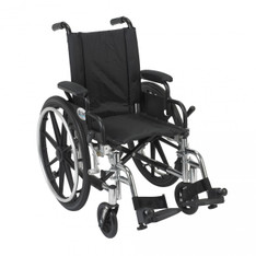 Viper Wheelchair with Flip Back Removable Desk Arms and Swing Away Footrest - l414dda-sf
