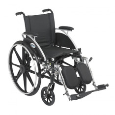 Viper Wheelchair with Flip Back Removable Desk Arms and Elevating Leg Rest - l416dda-elr