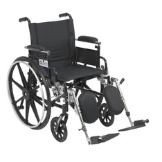 Viper Wheelchair with Flip Back Removable Adjustable Desk Arms and Elevating Leg Rest - l418adda-elr