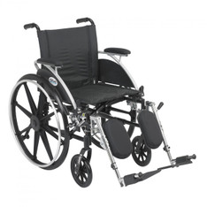 Viper Wheelchair with Flip Back Removable Desk Arms and Elevating Leg Rest - l418dda-elr