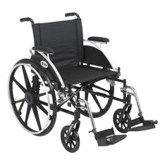 Viper Wheelchair with Flip Back Removable Desk Arms and Swing Away Footrest - l420dda-sf