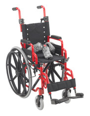 "Wallaby Pediatric Red 12"" Folding Wheelchair - wb 1200"