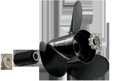 40 - 150 HP 4.25 inch gearcase aluminum propeller
