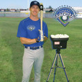 Chris with the Personal Pitcher PRO Pitching Machine