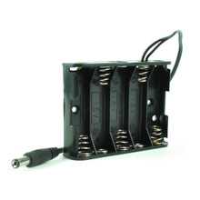 Battery Holder 5-AA Barrel Jack